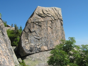 On the side of this On the rock is a plack that's dedicated to a man who died in 1930's